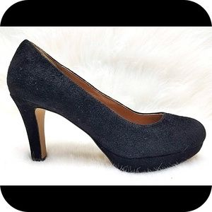 CLARKS Artisan Black Suede Leather Heels